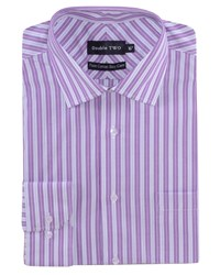 Double Two Men's Patterned Formal Shirt Purple