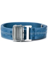 Off White Logo Industrial Belt Blue