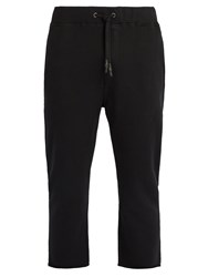 The Upside Om Cropped Cotton Track Pants Black