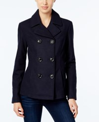 Celebrity Pink Double Breasted Peacoat Midnight Navy