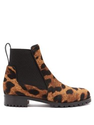 Christian Louboutin Marchacroche Leopard Print Calf Hair Ankle Boots Leopard