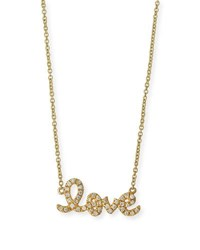 Sydney Evan 14K Yellow Gold Small Diamond Love Necklace Unassigned