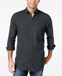 John Ashford Men's Long Sleeve Herringbone Shirt Only At Macy's Nine Iron