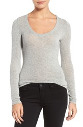 Trouve Women's Sheer Tee Grey Heather