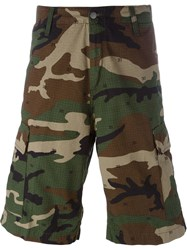 Carhartt Camouflage Print Cargo Shorts Green