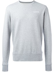 Saturdays Surf Nyc Logo Stamp Sweatshirt Grey