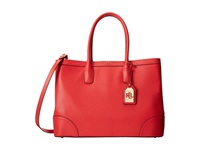 Lauren Ralph Lauren Fairfield City Tote Poppy Tote Handbags Red