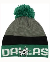 Reebok Dallas Stars Pom Knit Hat Green Black Gray