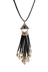 Forever 21 Tribal Inspired Fringe Necklace