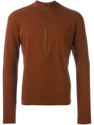 Romeo Gigli Vintage Funnel Neck Jumper Brown