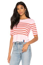 Kule The Crop Tee Pink