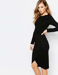 Supertrash Dhinker Body Conscious Midi Dress Black