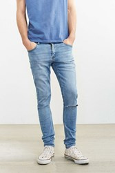 Urban Outfitters Cheap Monday Tight Stonewash Destroyed Skinny Jean Vintage Denim Light