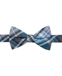 Ryan Seacrest Distinction Canyon Plaid Pre Tied Bow Tie Only At Macy's Aqua