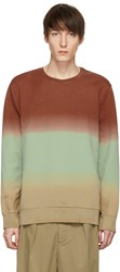 Cmmn Swdn Red And Green Coen Degrade Loopback Sweatshirt