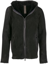 Giorgio Brato Dark Eagle Hooded Jacket Black