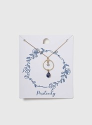Dorothy Perkins Stone Drop Pendant Necklace Blue