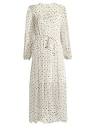 Zimmermann Adorn Embroidered Silk Chiffon Dress White Multi