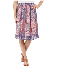 Lucky Brand Tapestry Print Skirt Pink Multi Women's Skirt