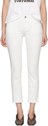 Toteme White Straight Jeans