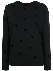 Mcq By Alexander Mcqueen Swallow Print Sweatshirt Women Cotton M Black