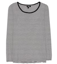 Paige Alessandra Striped T Shirt White