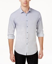 Inc International Concepts Long Sleeve Freddie Shirt Only At Macy's Blue