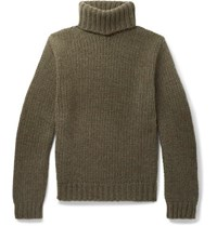 Ralph Lauren Purple Label Cashmere Rollneck Sweater Army Green