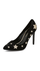 Kg By Kurt Geiger Bailey Suede Star Pumps Black Comb