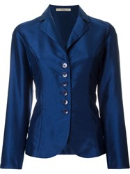Etro Corset Lace Up Jacket Blue