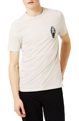 Topman Men's Skeleton Badge T Shirt
