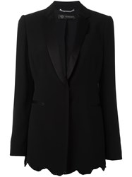 Versace Angular Sequin Hem Blazer Black