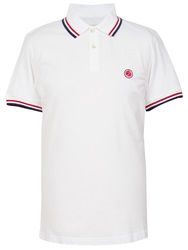 Pretty Green Tipped Pique Polo White