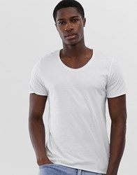 Selected Homme Scoop Neck Top In White