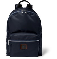 Paul Smith Leather Trimmed Nylon Backpack Blue