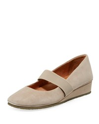 Gentle Souls Aria Demi Wedge Mary Jane Flat Mushroom