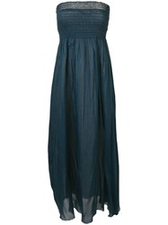 Forte Forte Strapless Dress Blue
