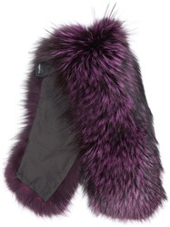 Mr And Mrs Italy Fox Fur Collar Purple