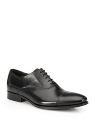 To Boot Aidan Leather Cap Toe Lace Up Shoes Black Brown