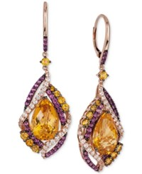 Le Vian Crazies Collection Multi Stone Drop Earrings 13 1 6 Ct. T.W. In 14K Rose Gold