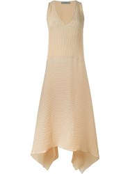 Dusan Pleated Dress Nude And Neutrals