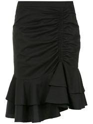 Isolda Ruffled Skirt Black