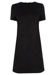 Oasis Suedette T Shirt Dress Black
