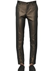 Etro Laminated Cotton Woven Suiting Pants