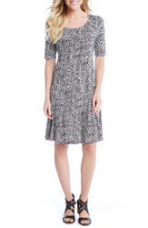 Karen Kane Women's Pencil Sleeve Print A Line Dress