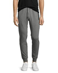 Michael Kors Faux Leather Trim Jogger Pants Ash Melange