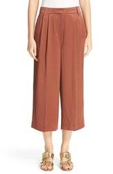 Tibi Women's Pleated Crop Silk Pants