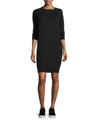 Atm Anthony Thomas Melillo Crewneck Sweatshirt Dress Black