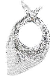 Paco Rabanne Chainmail Triangle Scarf Silver