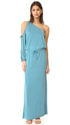 Young Fabulous And Broke Yfb Clothing Elodie Dress Turkish Blue